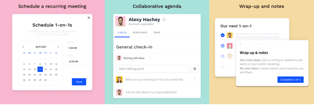 Officevibe helps guide your 1-on-1's so you can check in with employees and make the most out of your time