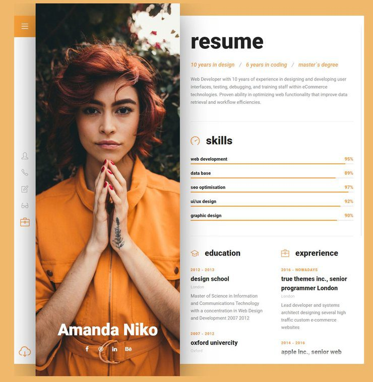 Niko WordPress resume
