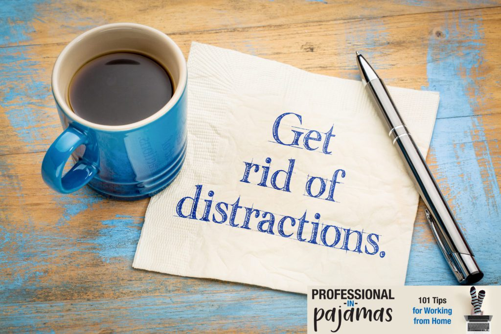 Note to avoid distractions