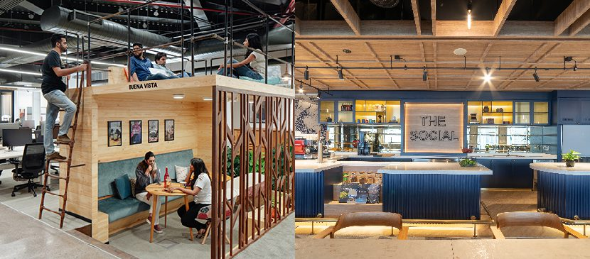 Airbnb Gurgaon office and Hilton Singapore office have resimercial and hospitality-driven elements