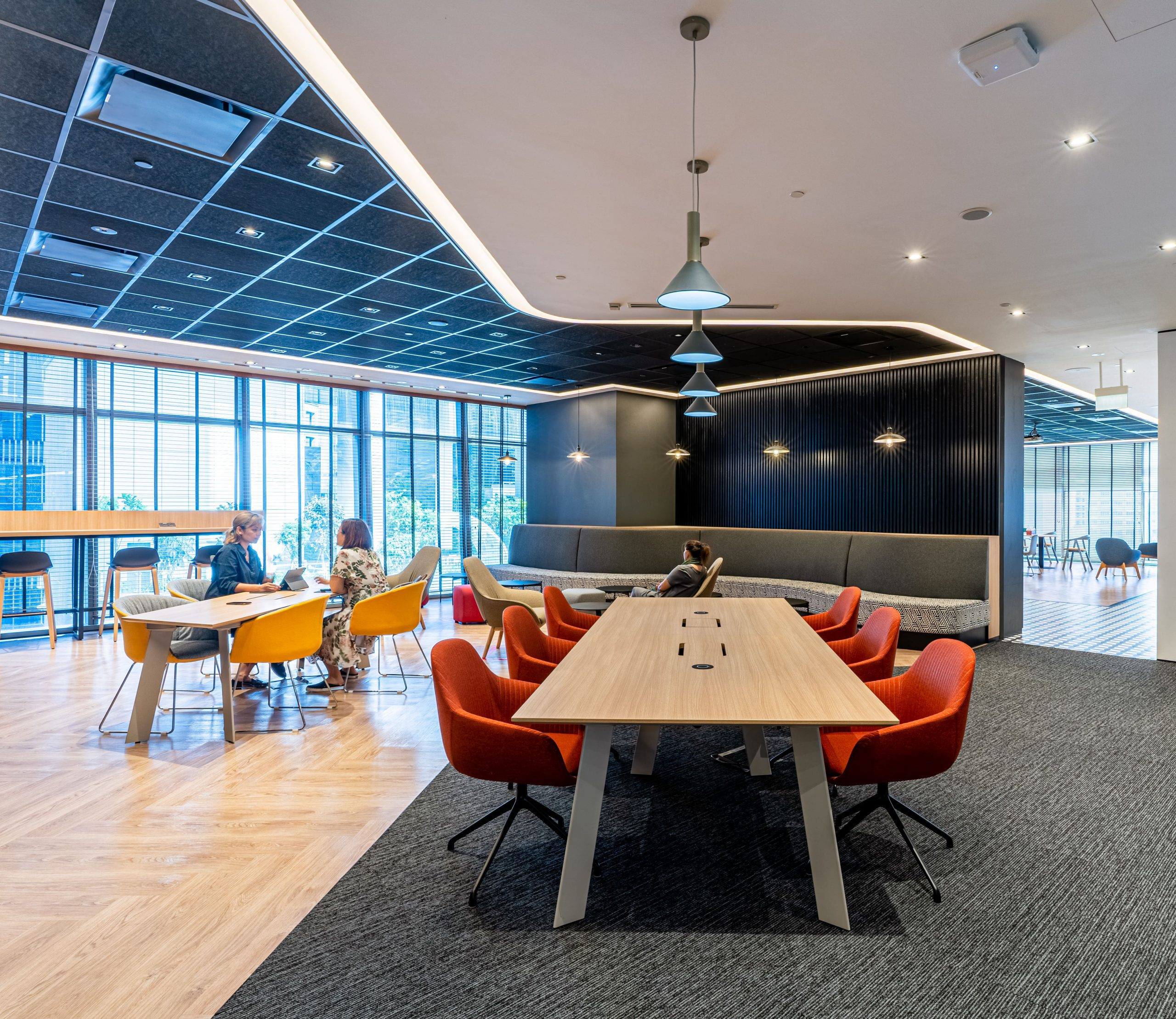 Many firms, like Zebra Technologies, Singapore, are also examining the neighborhood approach to workspace planning